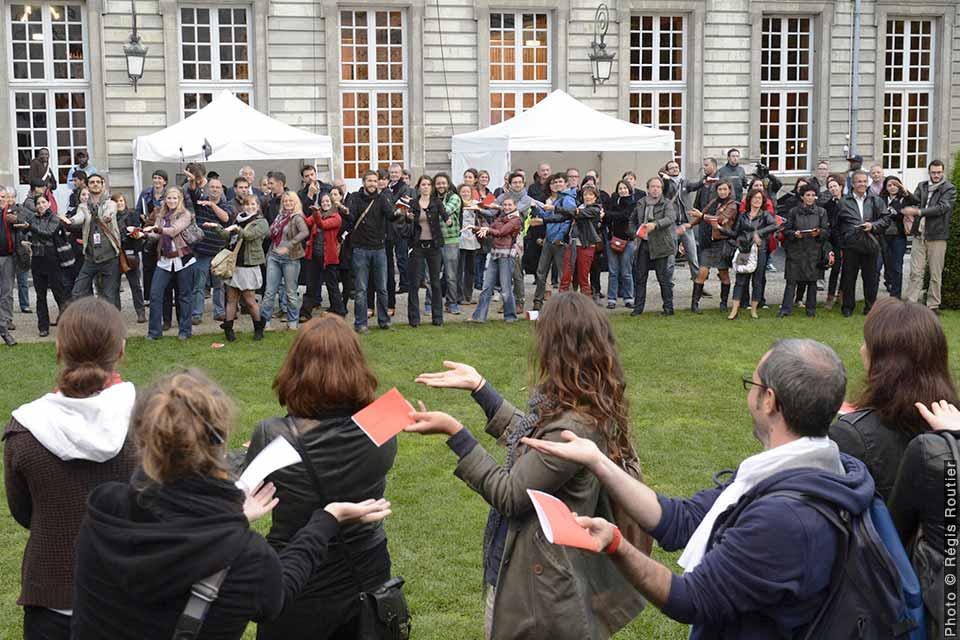 Les Lecteurs (chorégraphies collectives), David Rolland Chorégraphies, Nantes, danse